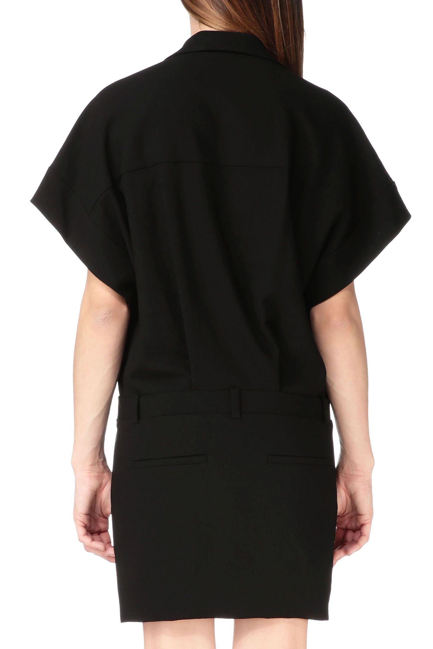 ff695dd4ec9 Robe boutonnée Héléa Noir Iro sur MonShowroom.com