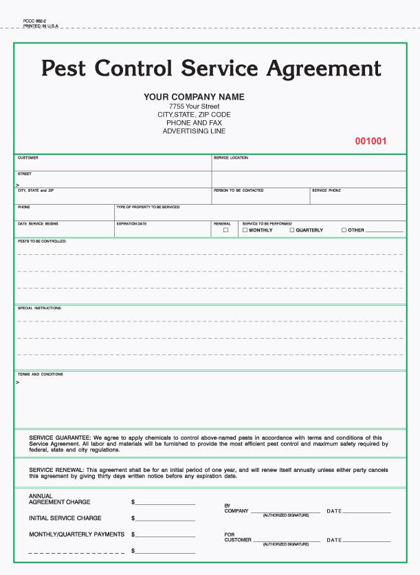 2 Part Pest Control Service Agreement Pest Control Services Pest Control Pest Control Logo