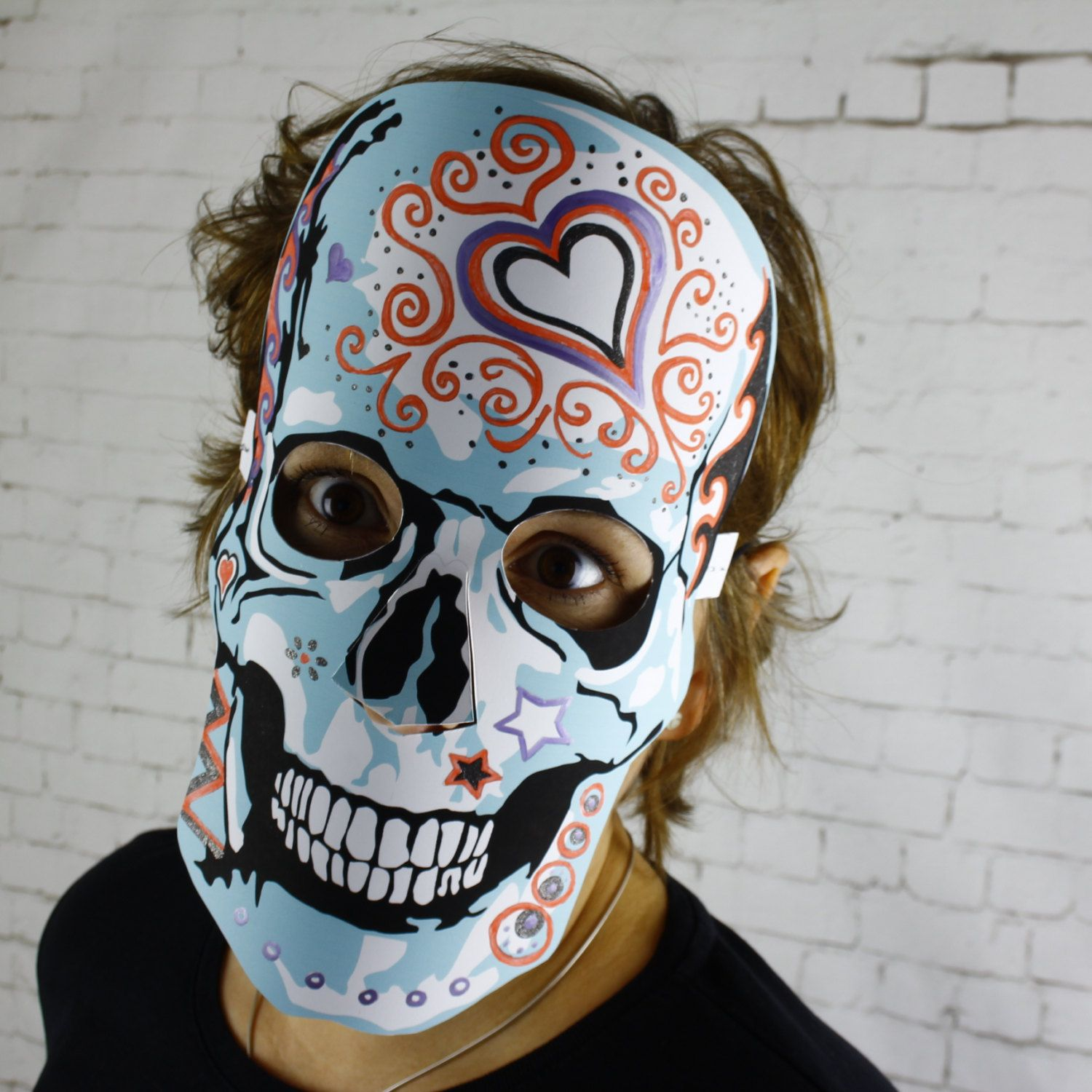 skull mask download sugar skull halloween masks da de muertos 2 colour