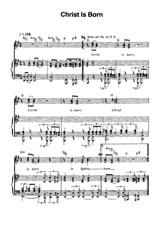 Weihnachtslieder Gesang.Christ Is Born Klavier Gesang Weihnachtslied Klick Auf Die