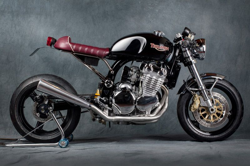 """Triumph Cafe Racer """"Jerolamo"""" by SPECIAL Mr MARTINI #caferacer #motorcycles #motos 