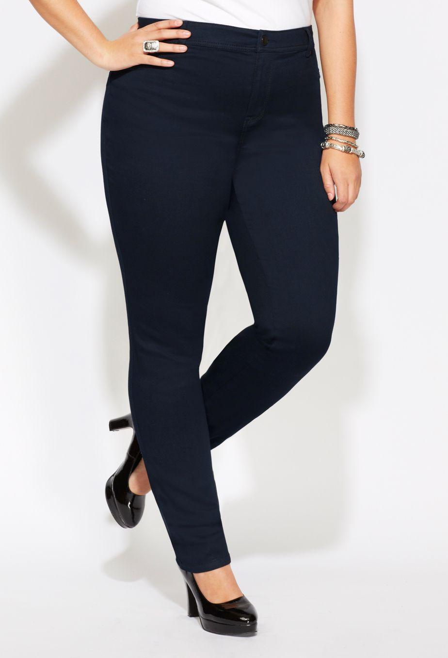 fb3225a267f99 Plus Size Tall Virtual Stretch™ Butter Slim Leg Jean $54   Curvy ...