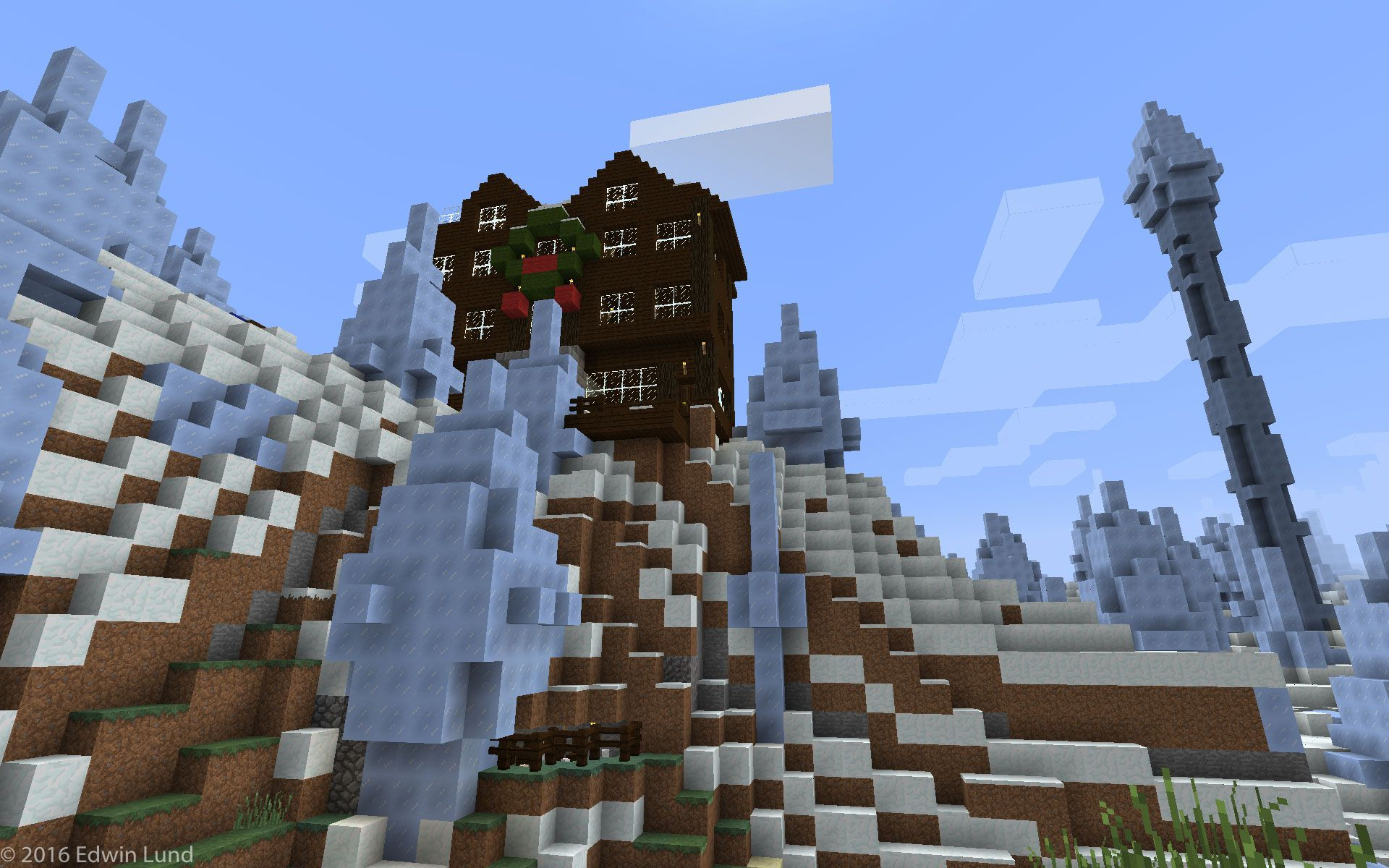 Minecraft Life On The Other Side Ice And Lots Of It Minecraft Creations Minecraft Christmas Wreaths