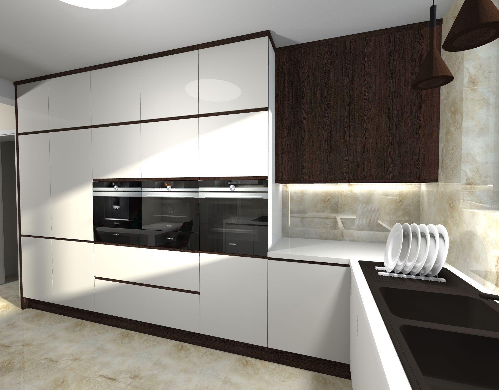 Projekt Kuchni W Domu Jednorodzinnym Lil Let Projektowanie Wnetrz Szczecin Kitchen Cabinets Home Decor Home