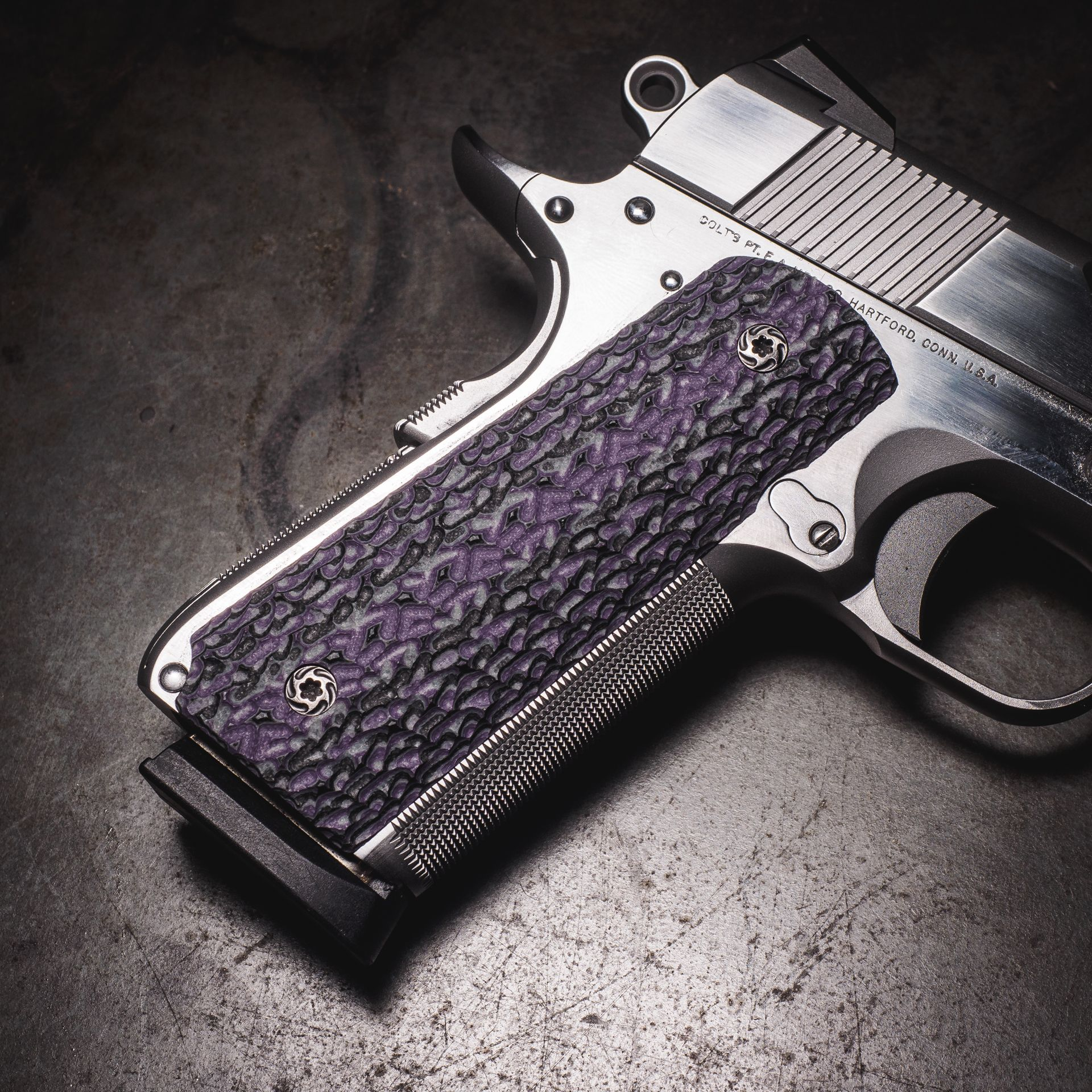 VZ G10 grips now in purple stipple  | 1911 Grips | 1911 grips, 1911