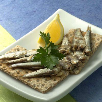 Sardines on Crackers
