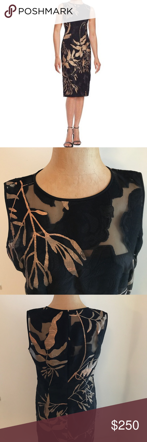 Nwot Lafayette 148 Gold Leaf Cocktail Dress Lbd Fashion Fashion Design Clothes Design