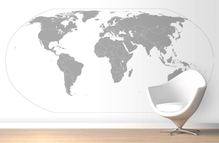 Grey curved world map wallpaper wall mural muralswallpaper grey curved world map wallpaper wall mural muralswallpaper murawall publicscrutiny Choice Image