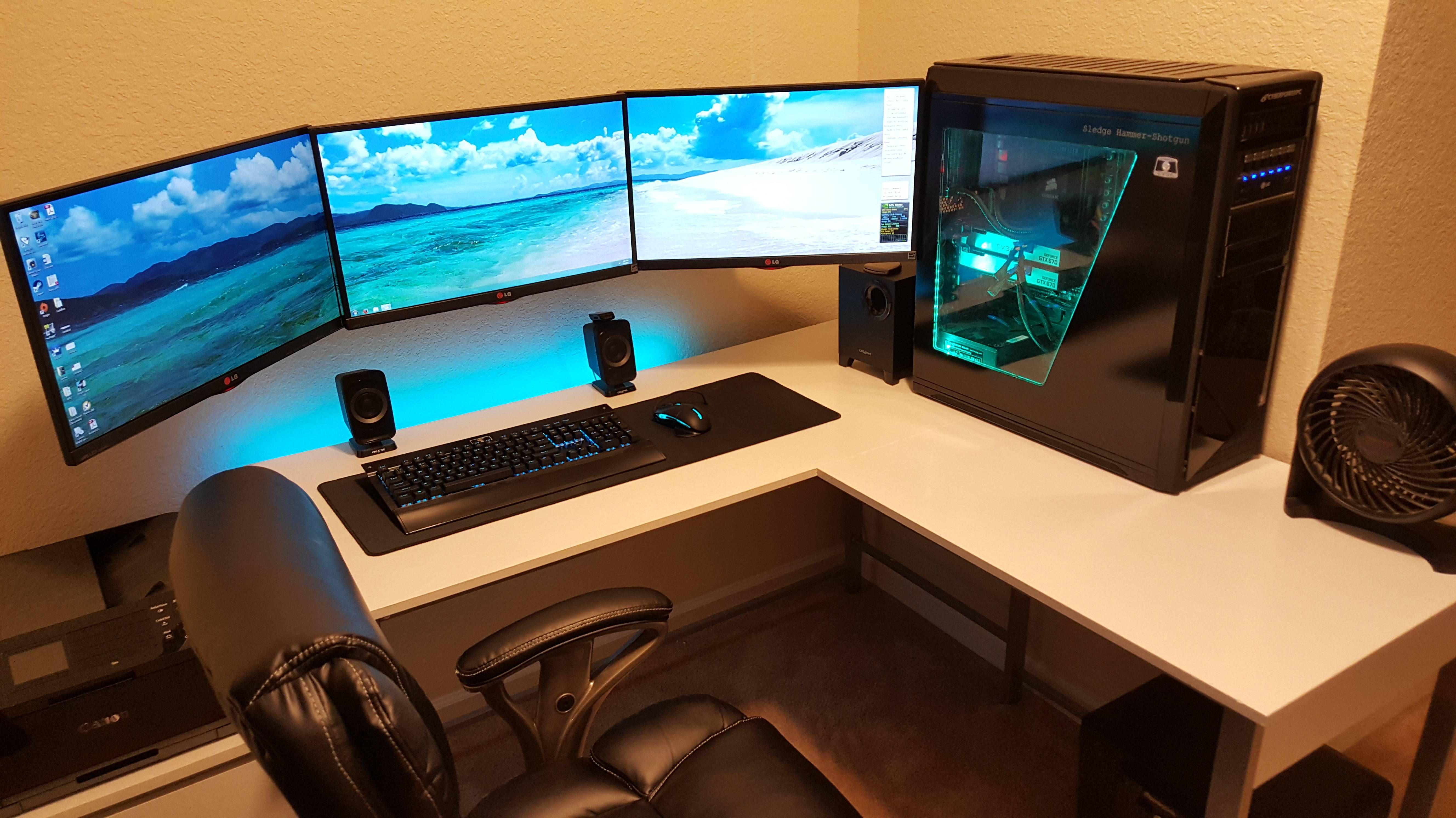 Battlestation refresh computer setup computer desk
