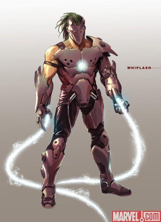 Whiplash concept art for Iron Man 2 from Marvel