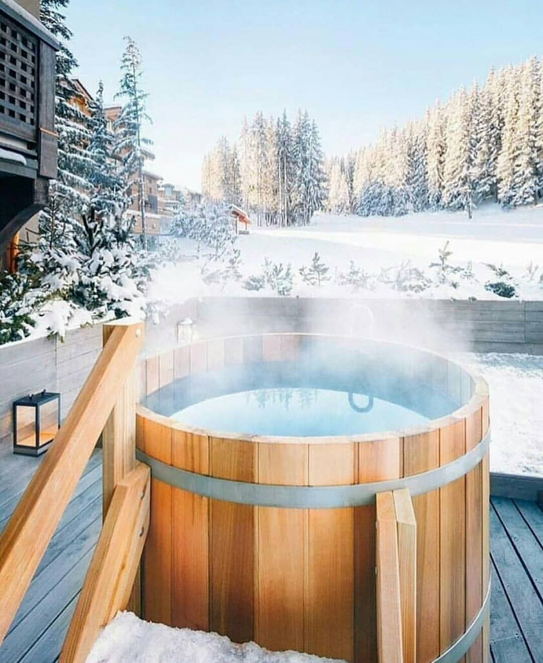 Living Hotels On Instagram Hot Pool In The Snow Rhone Alpes