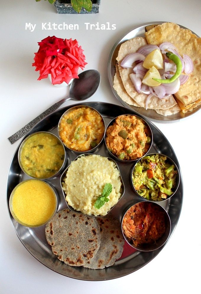 Rajasthani Mini Thali Indian food recipes, Rajasthani