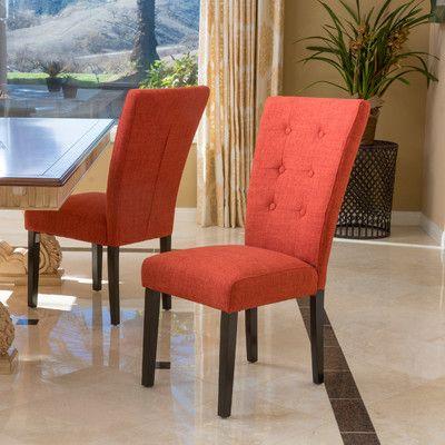 Latitude Run George Parsons Chair Upholstery: Deep Orange