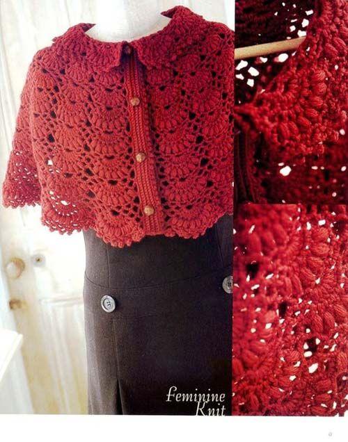 Patron para hacer poncho tejido a crochet gratis06 | crochet ...