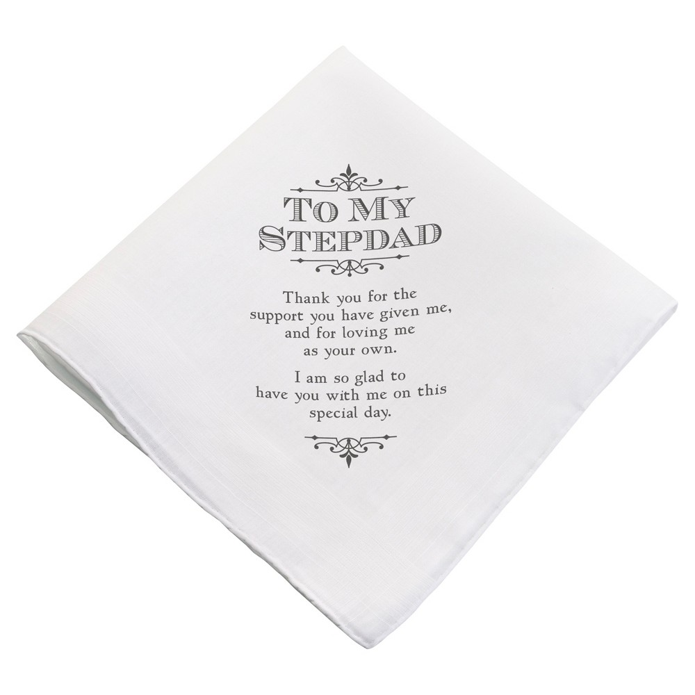 White \'To My Stepdad\' Wedding Favor Hankie | Favors, Weddings and ...
