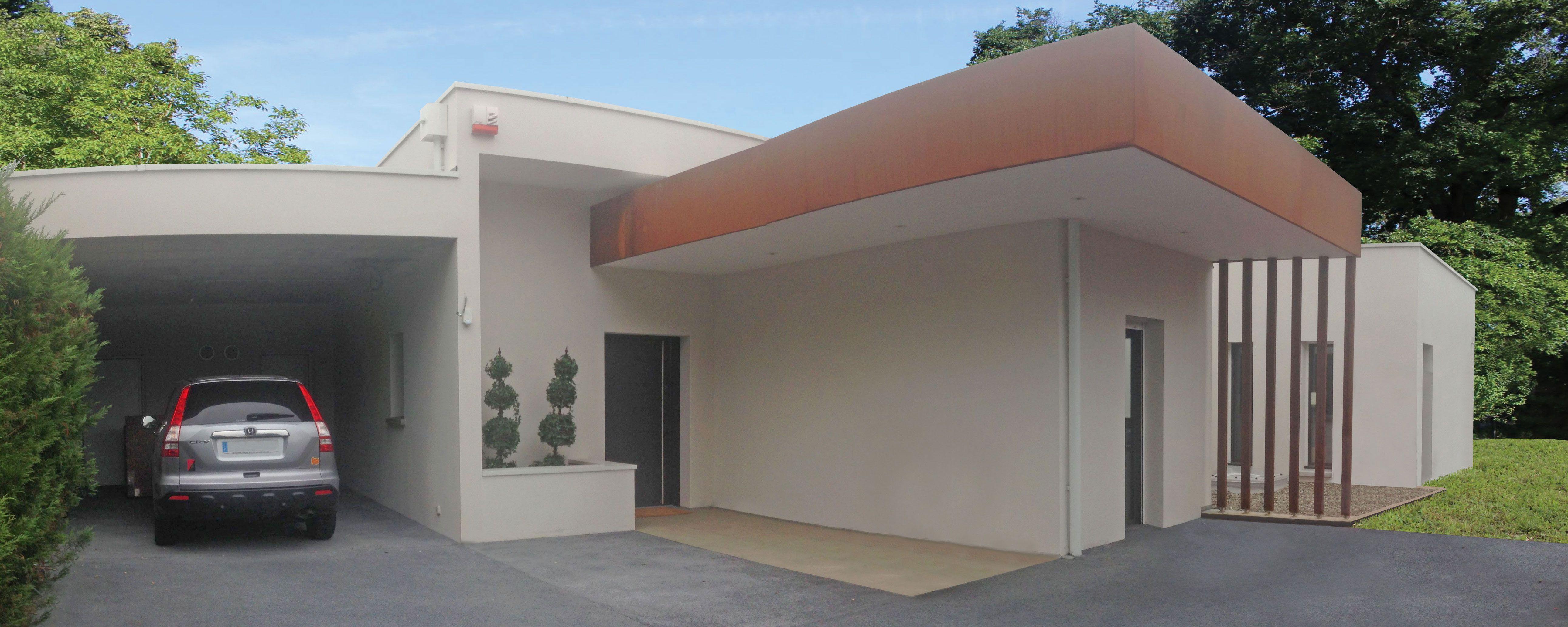 Atelier d\'Architecture Scénario - Maison contemporaine parée d\'acier ...