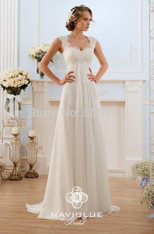 vestidos de novia baratos a-line wedding-dress made in china lace