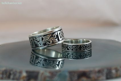 Welsh Dragon Rings 10mm And 6mm