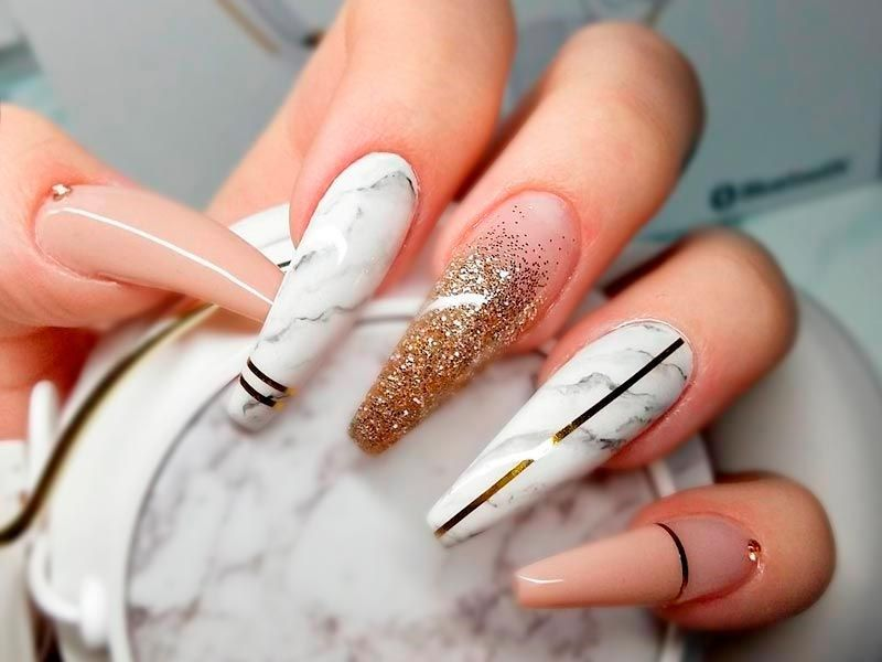 Cute Acrylic Nails Look Extremely Elegant And Sophisticated Covers Even Broken They Also Make Weak Strong Try Them Right Now