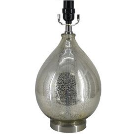 Style Selections 16 Antique Mercury Tear Drop Glass Lamp Base