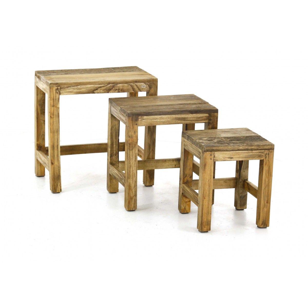 tables basses gigognes table basse bois recycl table basse rustique tables basses en pin et. Black Bedroom Furniture Sets. Home Design Ideas