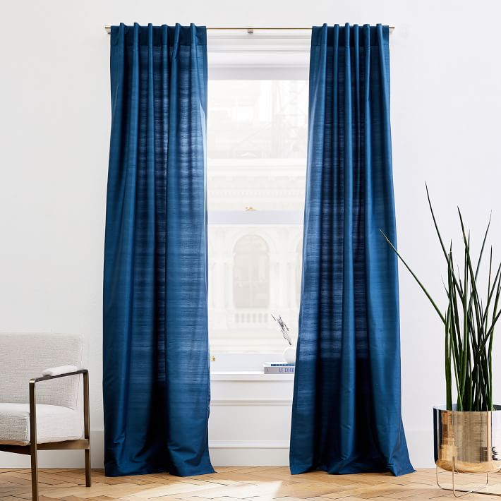 Dupioni Silk Curtain Regal Blue In 2020 Silk Curtains Velvet Curtains Blue Curtains Living #silk #curtains #for #living #room
