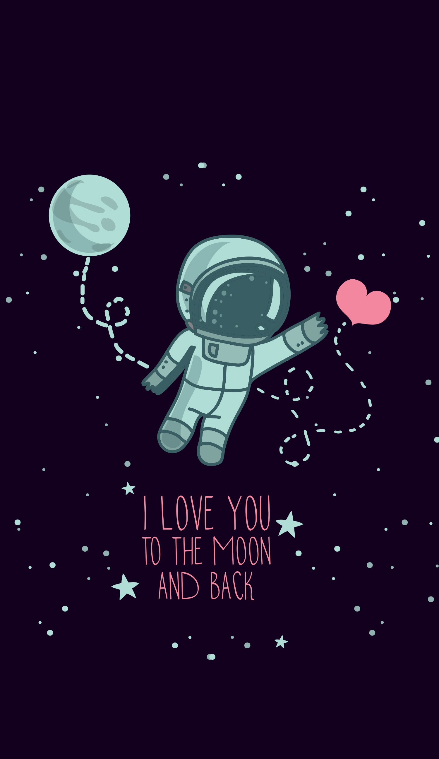 Cute astronaut wallpaper Valentines wallpaper, Pretty