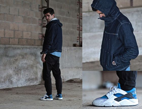 Diesel Jogg Jeans Jacket, Norse Projects Denim Shirt, Nike Huarache Blue  Metro Sneakers
