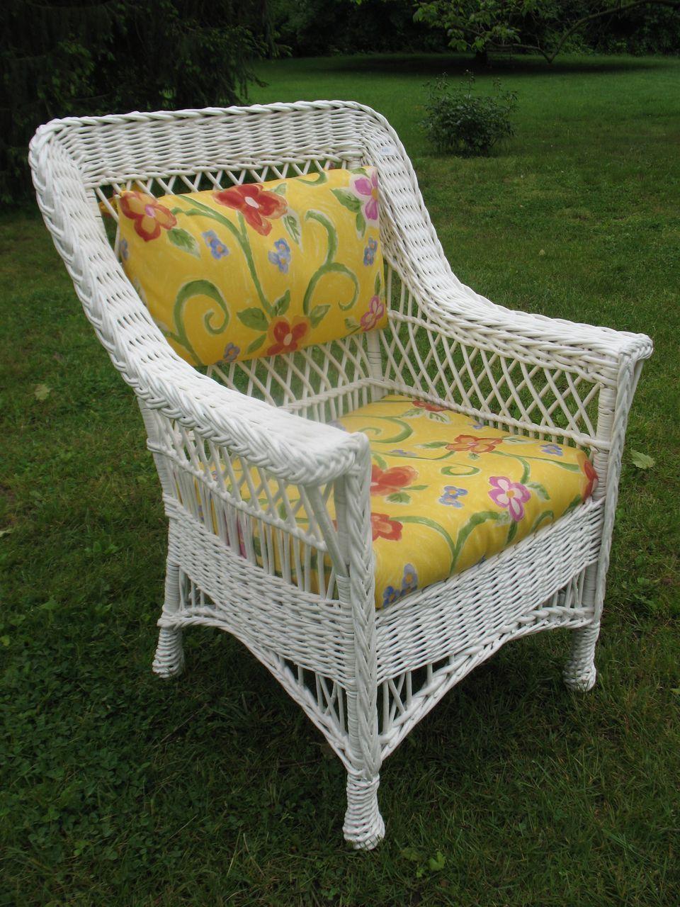 Bar Harbor Wicker Arm Chair Circa 1920 S Interesting
