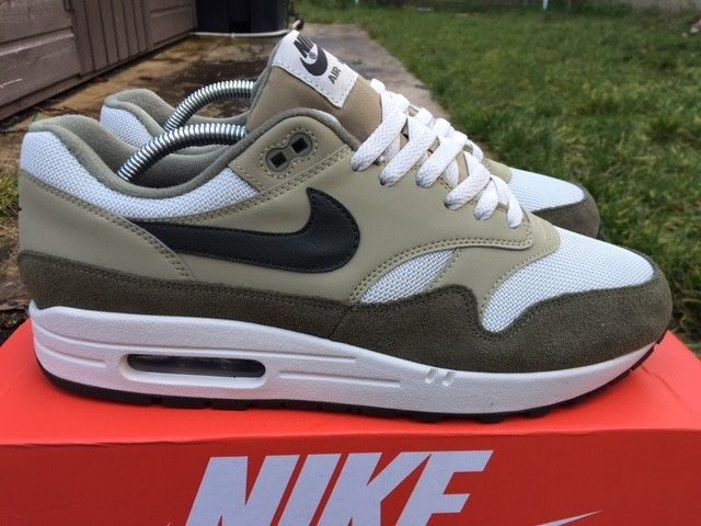nike air max 1 trainers noir size 9