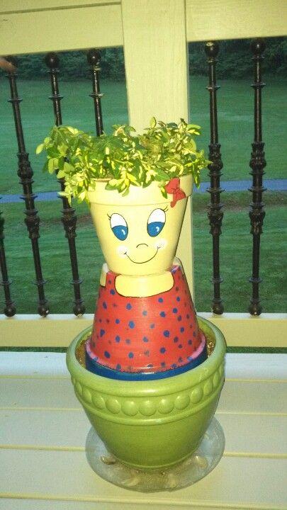 Chasity' flowerpot people