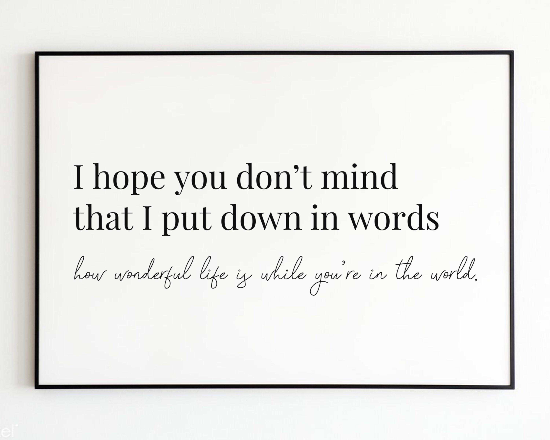 Your Song Elton John Print Love Letter How Wonderful Life Is Etsy In 2021 Song Lyric Print Lyric Prints Love Songs Lyrics