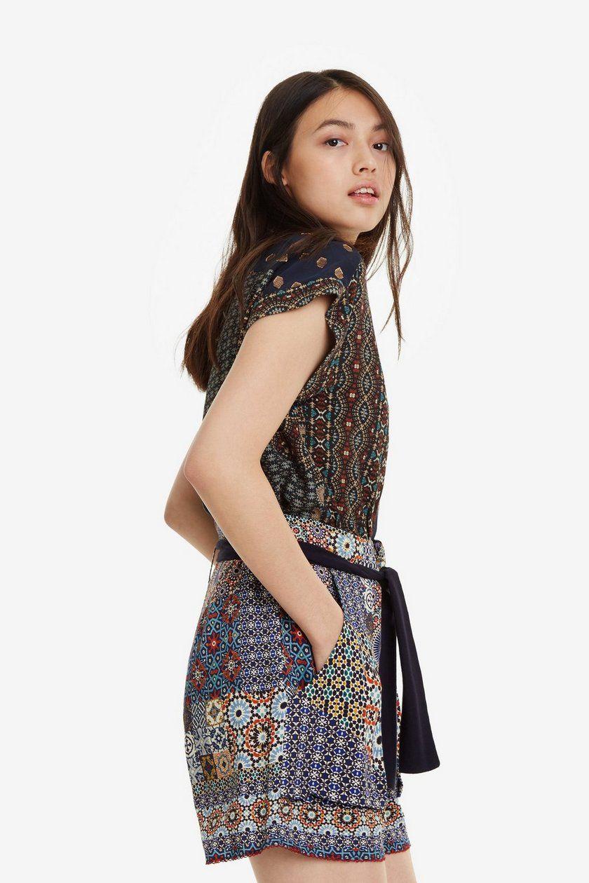 Shorts Con Patchwork Shasa Desigual Primavera Verano