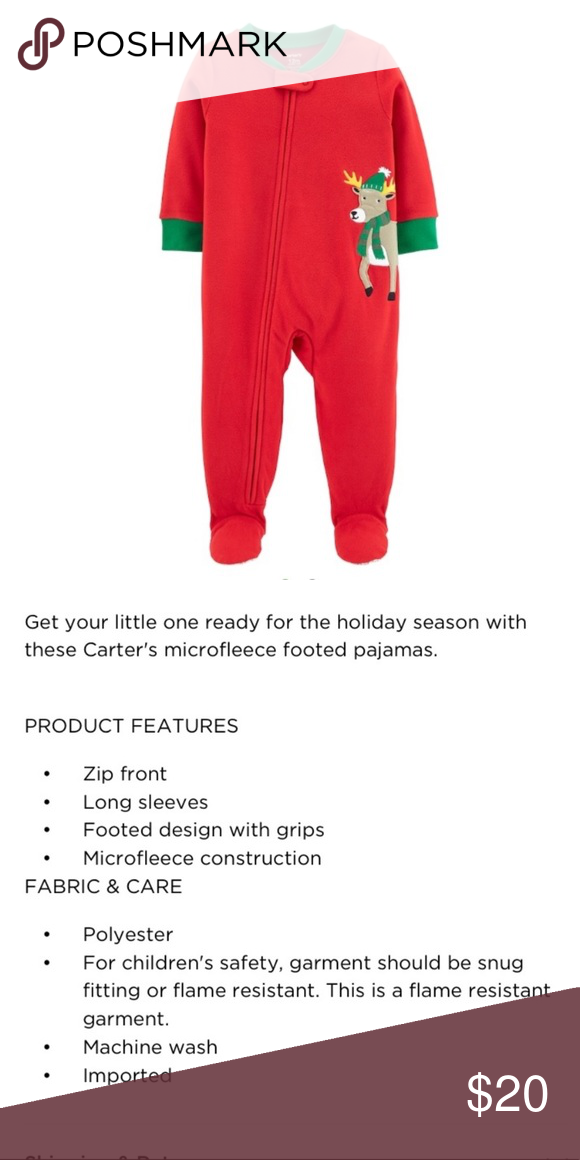 345cce258 🚨BOGO🚨NWT. Carter's Footed Pajamas NWT. Carter's Footed Pajamas Carter's  One Pieces