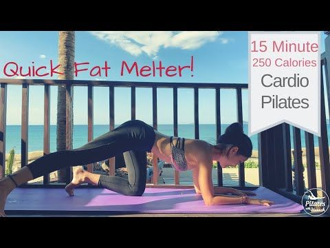 Quick Fat Melter Cardio Pilates Workout | Burn Up To 250 Calories 15 Minute No Equipment