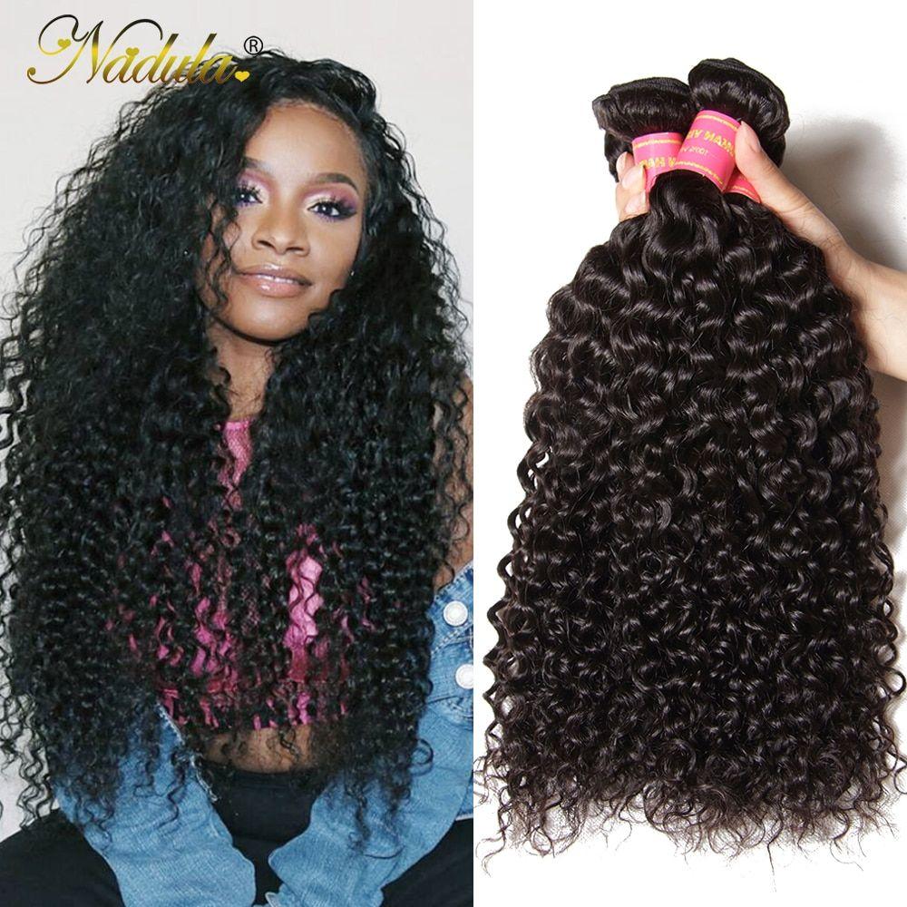 Nadula Hair Brazilian Curly Hair Weave 3pcs 4pcs Brazilian Remy