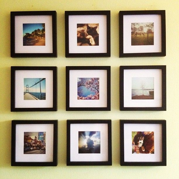 Square 4x4 And 5x5 Frames You Can Buy At Both Michaels And Joann S Fabrics Perfect For Your Postalpix Prints Gallery Wall Frame Photo Wall