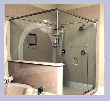 Atlanta Marble's cultured granite shower Granite shower