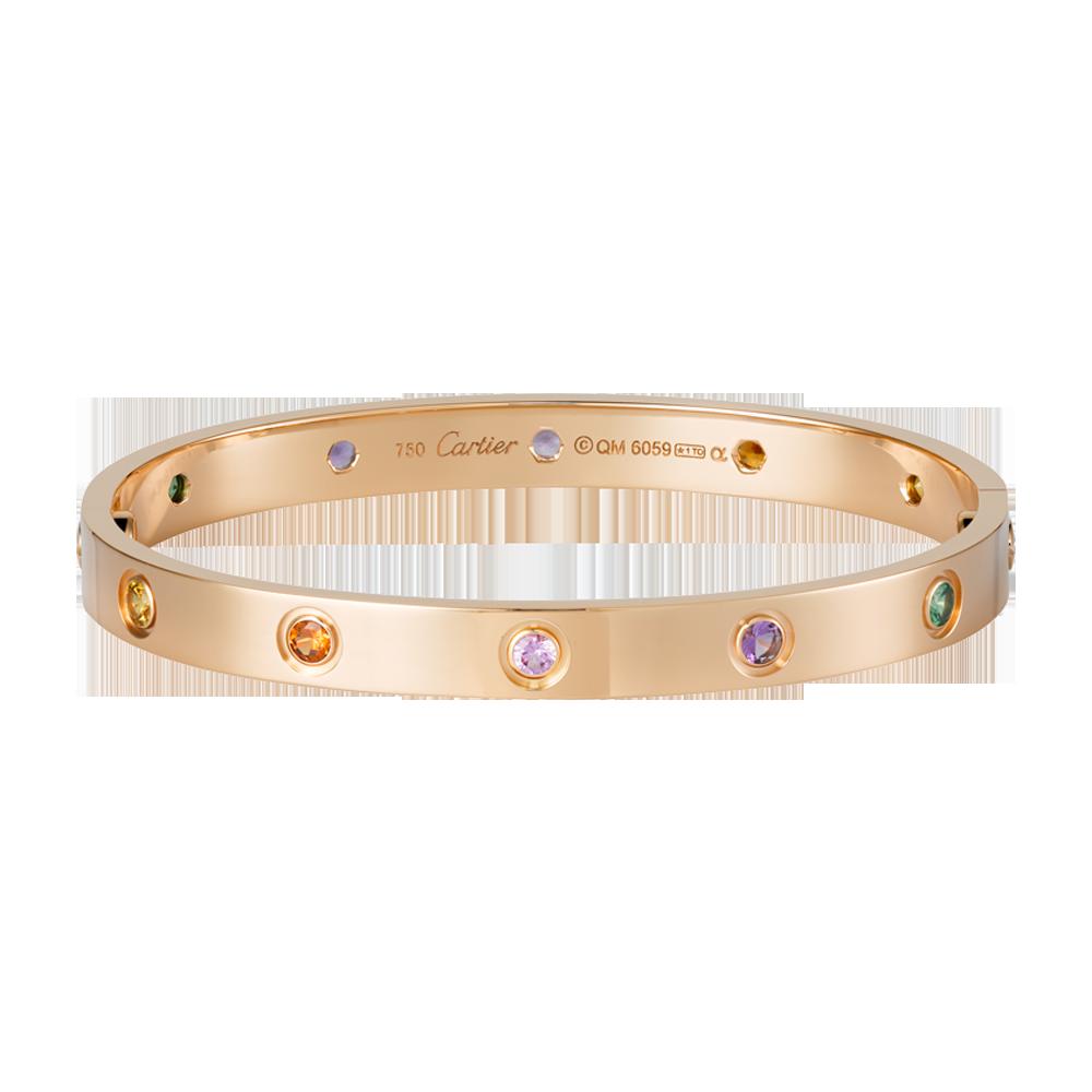 Bien connu Bracelet LOVE - Or rose, pierres de couleur - Bracelets de luxe  DJ94
