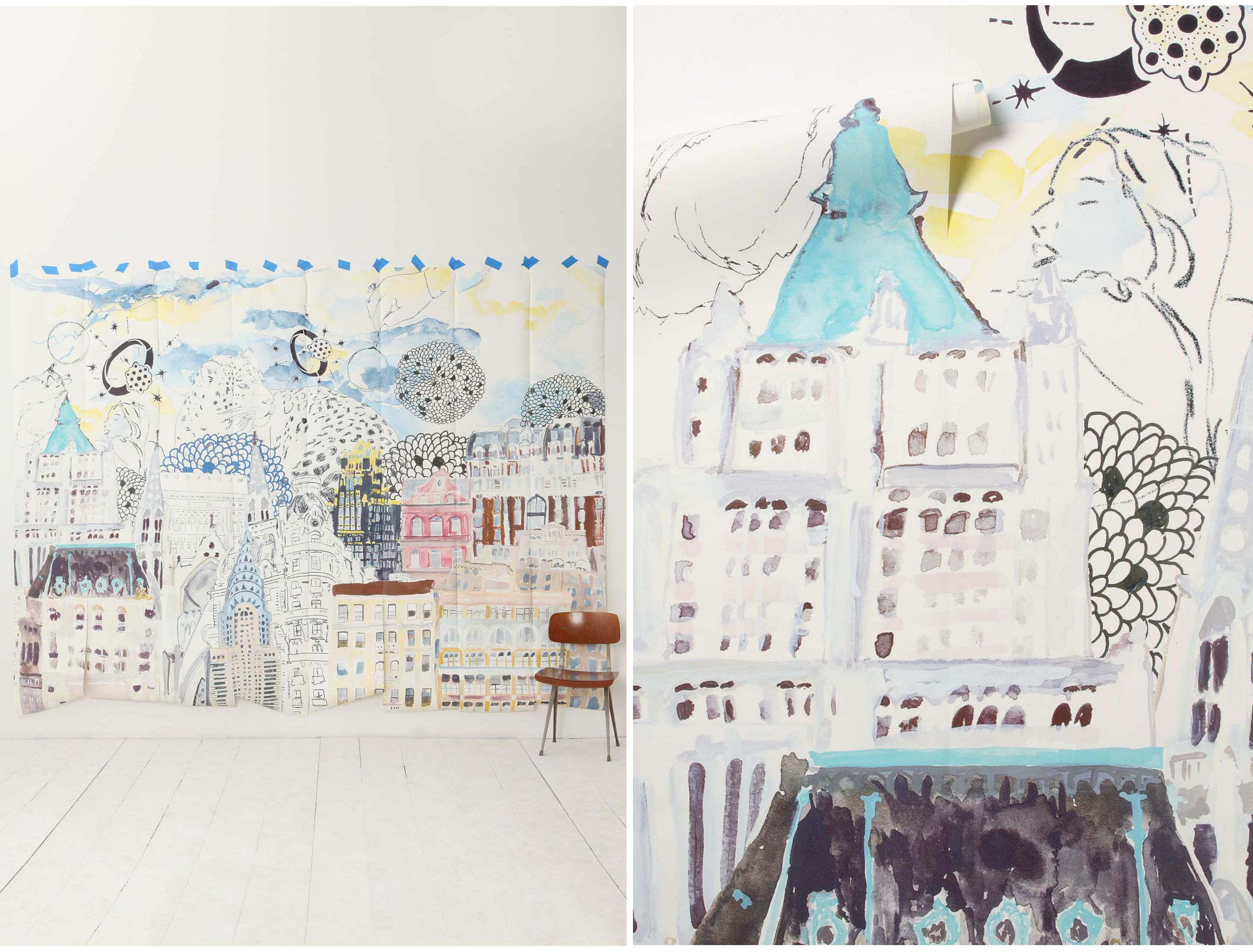Focal wall (already own) Anthropologie Dreamscape Mural