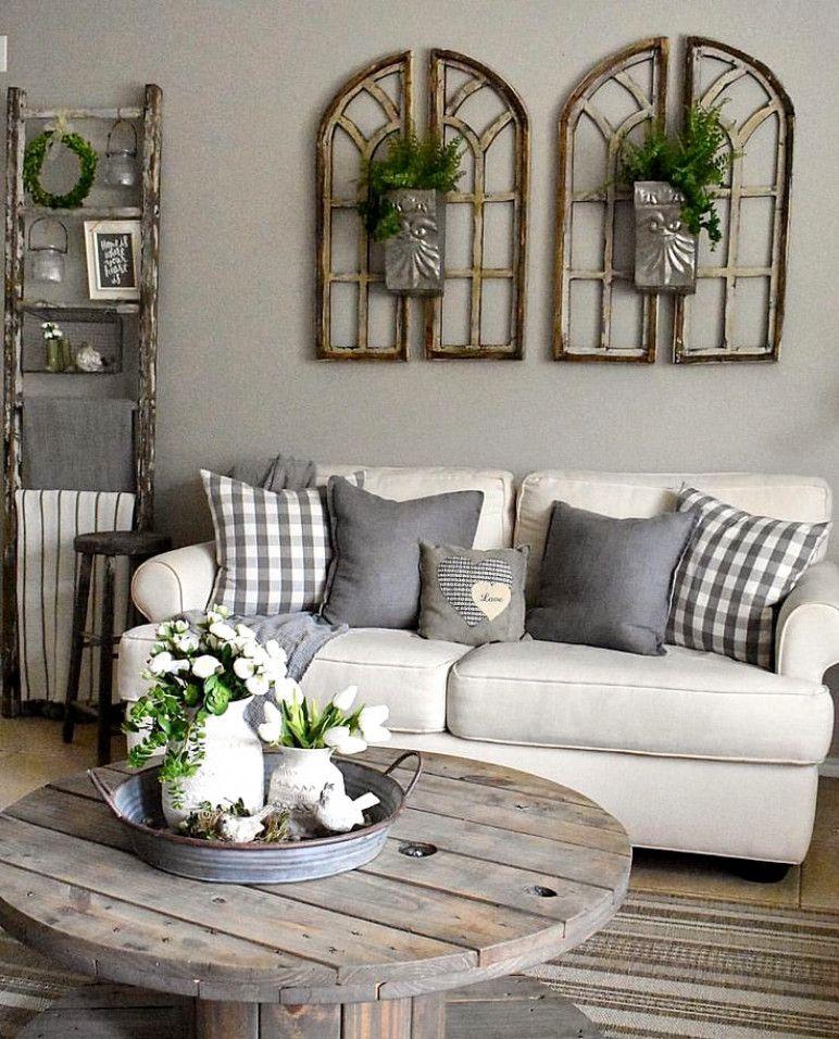 4 Simple Rustic Farmhouse Living Room Decor Ideas: Rustic Farmhouse Living Room Decor Ideas. Simple Idea For
