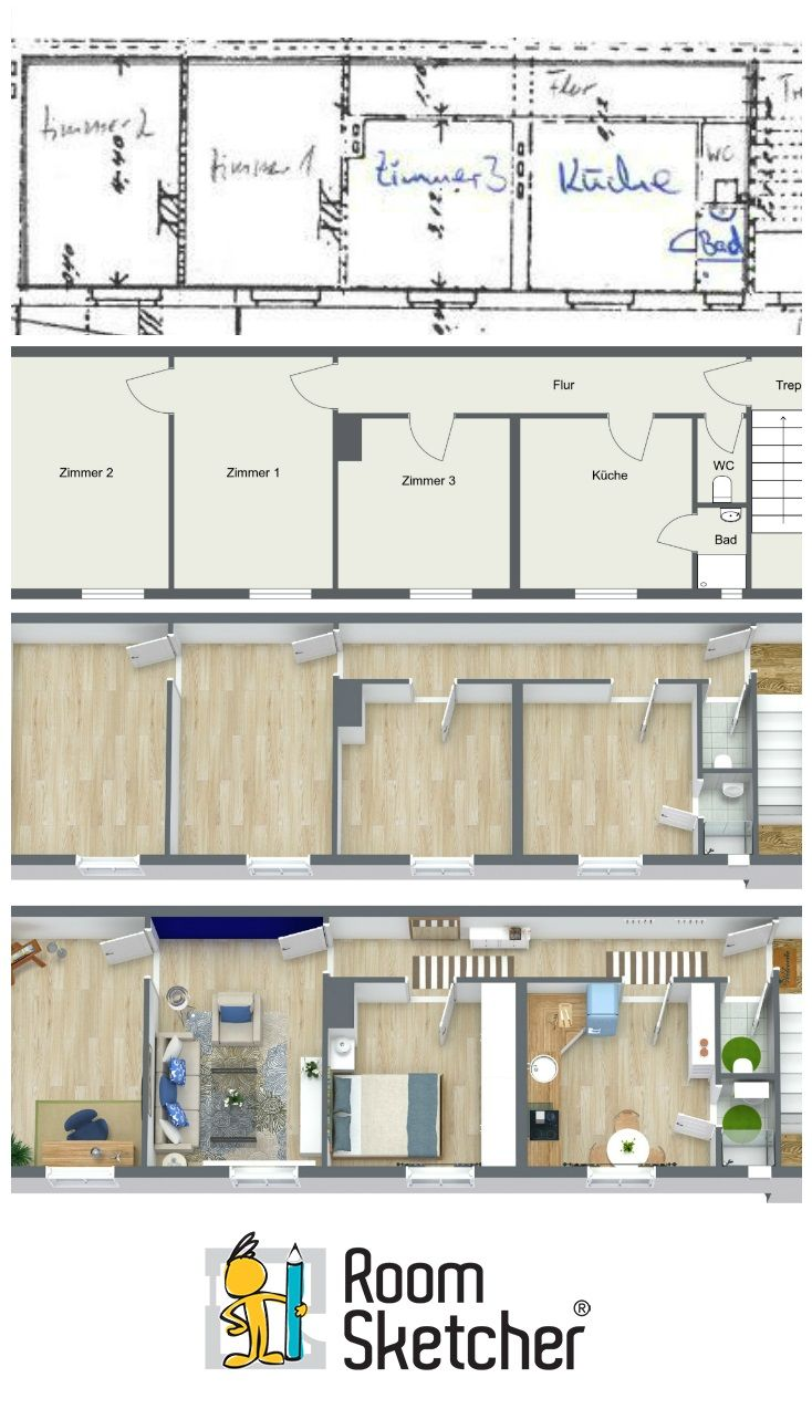 Did You Know You Can Upload And Draw Over A Blueprint Floorplan Or Even A Sketch To Create Your Roomsketcher House Design Furniture Plans Software House Plans