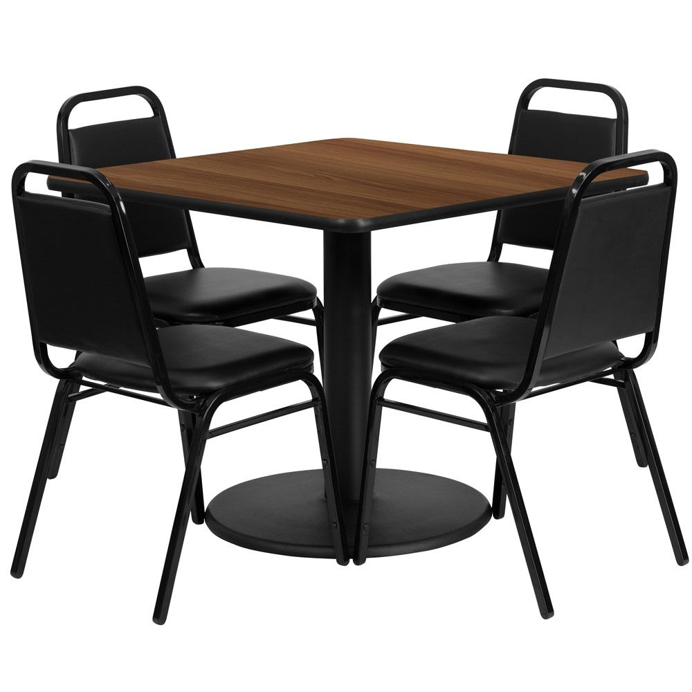 Verona 36 Inch Square Restaurant Table Set Flash Furniture Table And Chair Sets Dining Room Sets