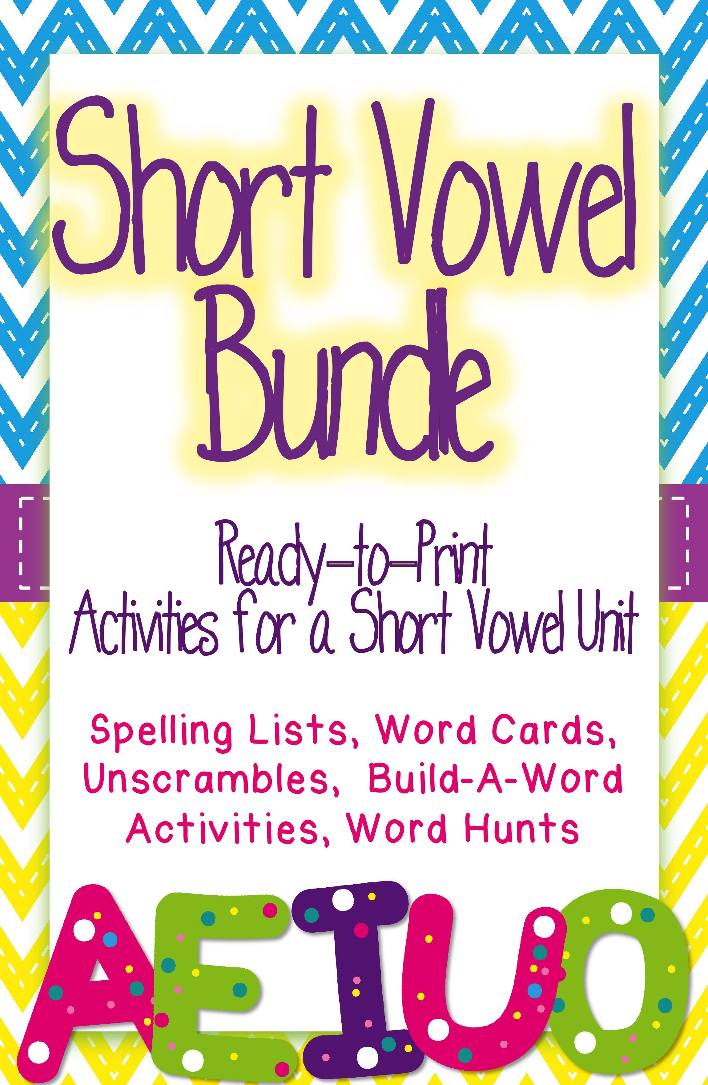 Short Vowel Cut And Paste Worksheet
