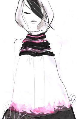 Aga Baranska #fashion #illustration  very nice, graphic design image