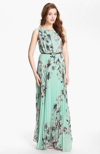 836827e92b Eliza J Floral Sleeveless Print Chiffon Maxi Dress (Plus) available at   Nordstrom