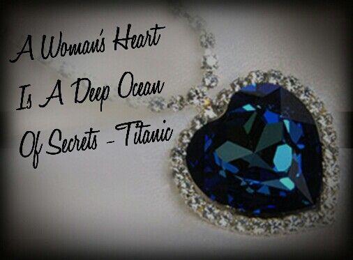 A Woman S Heart Is A Deep Ocean Of Secrets Titanic Titanic Tattoo Heart Tattoo Beauty Tattoos