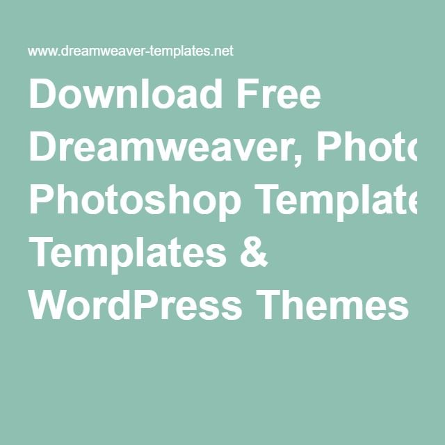 Download Free Dreamweaver, Photoshop Templates & WordPress Themes ...