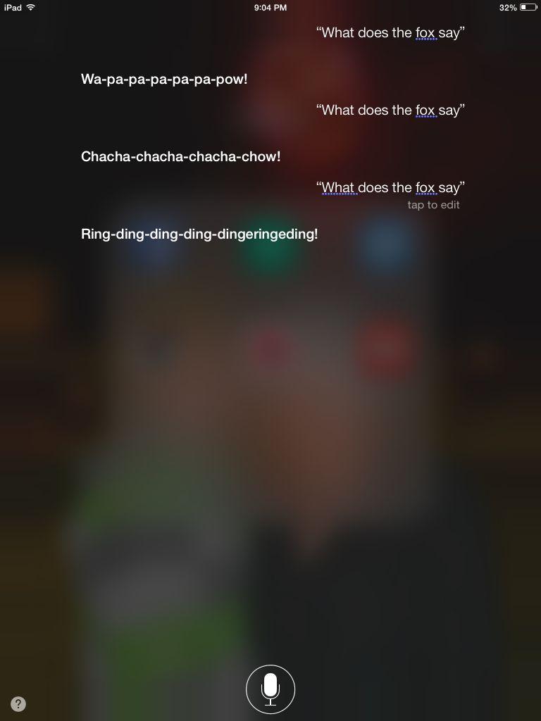 Fun with Siri