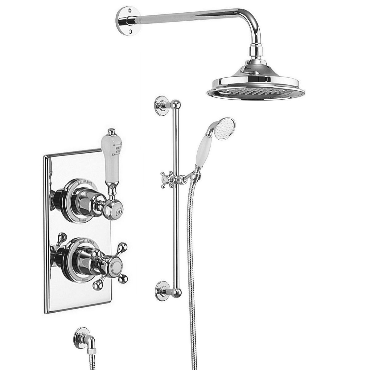 Burlington Trent Concealed Valve With Showerhead And Rail With